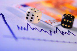 dice on chart