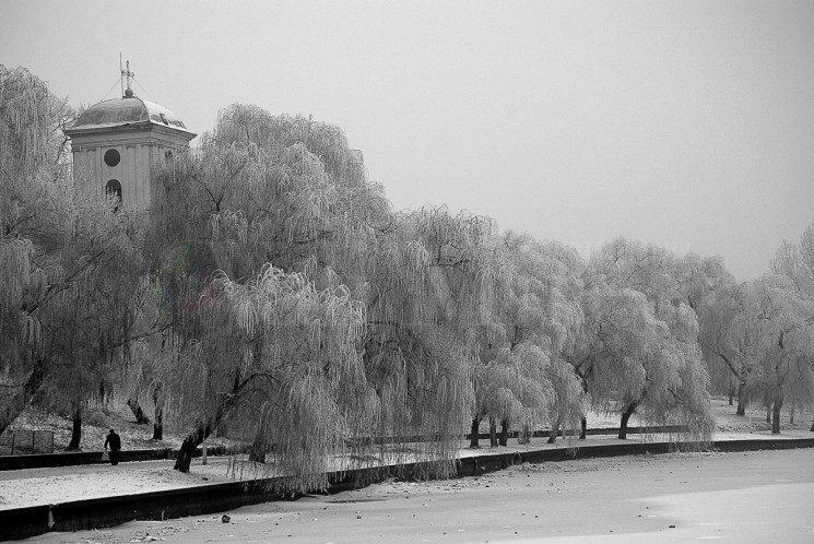 Peisaj de iarna in Plumbuita